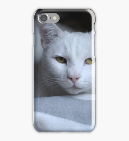 Light White Kitty iPhone Case/Skin