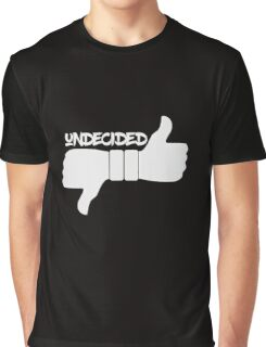 Funny Undecided Like Dislike Thumbs Up and Down  Graphic T-Shirt