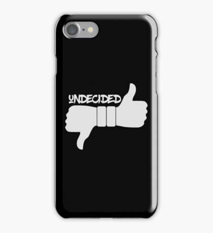 Funny Undecided Like Dislike Thumbs Up and Down  iPhone Case/Skin