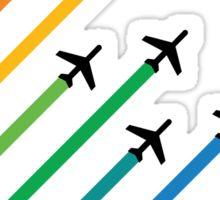 rainbow plane Sticker