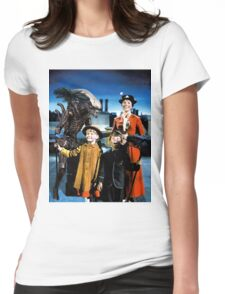Alien in Mary Poppins Womens Fitted T-Shirt