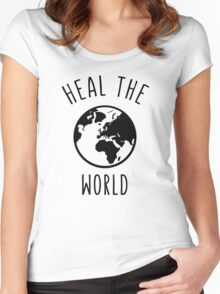 Heal The World Women's Fitted Scoop T-Shirt