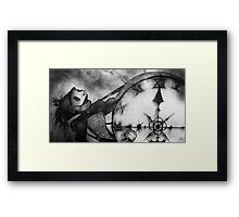Marching On- BW Version Framed Print