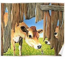Cow and Mouse Poster