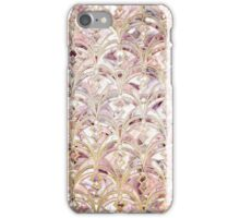 Dusty Rose and Coral Art Deco Marbling Pattern iPhone Case/Skin