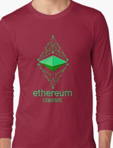 Ethereum Classic Made of Green Long Sleeve T-Shirt