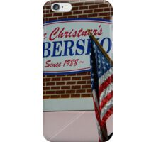 Hometown Series - Old Fashioned Barber Shop iPhone Case/Skin