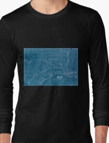 0315 Railroad Maps Map exhibiting the fixed location of the main trunk of the New-Orleans Opelousas Great Western Railroad of Louisiana together with its proposed branches Inverted Long Sleeve T-Shirt