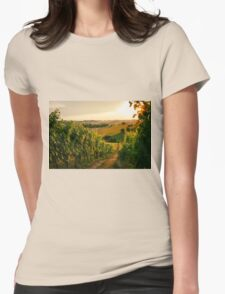 Vineyard fields in Marche, Italy Womens Fitted T-Shirt