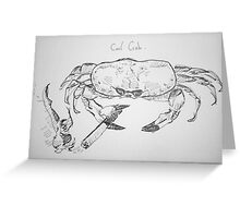 cool crab Greeting Card