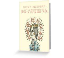 Coral Lady Greeting Card