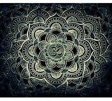 Sacred ohm symbol-dark Photographic Print
