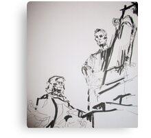 paris sculptures Canvas Print