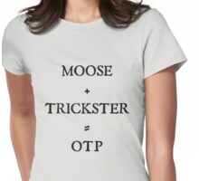 Moose + Trickster= OTP Womens Fitted T-Shirt