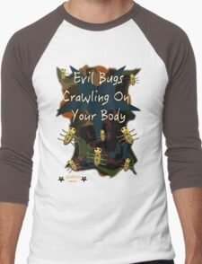 Evil Bugs Men's Baseball ¾ T-Shirt