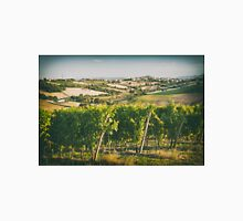 Vineyard fields in front of Morro d'Alba in Marche, Italy Unisex T-Shirt
