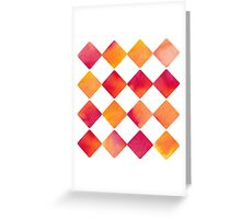 Watercolour Ink Quadrats - Square - Diamond - Raute - Quadrat [Pattern] Greeting Card