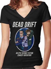 Cartoon Dead Drift by Davie Kizdar Women's Fitted V-Neck T-Shirt