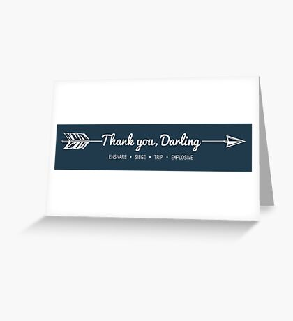 Thank You, Darling Greeting Card