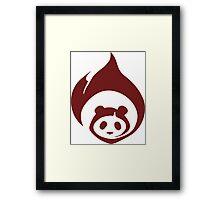 Fire Panda Framed Print