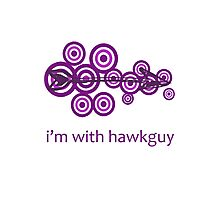 I'm With Hawkguy Photographic Print