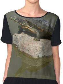Western Painted Turtle Chiffon Top