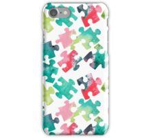 Watercolour Jigsaw Puzzle Pattern iPhone Case/Skin
