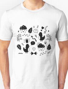 Birds. Sing about love. Unisex T-Shirt