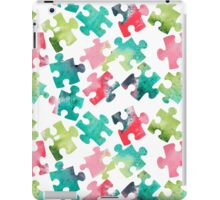 Watercolour Jigsaw Puzzle Pattern iPad Case/Skin
