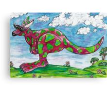 Prue the Pink Kangaroo Canvas Print