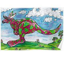 Prue the Pink Kangaroo Poster