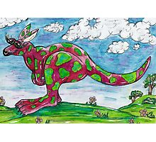 Prue the Pink Kangaroo Photographic Print