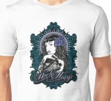 Lily Tattoo Sleeve Pin Up Design Unisex T-Shirt