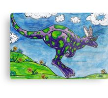 Priscilla the Purple Kangaroo Metal Print