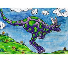 Priscilla the Purple Kangaroo Photographic Print