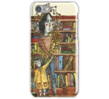 Mother and Child in Library iPhone Case/Skin
