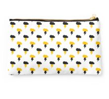 Yellow and Black Thunderclouds pattern Studio Pouch