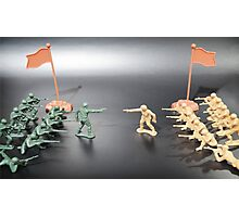 Nation vs Nation plastic soldiers Photographic Print
