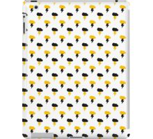 Yellow and Black Thunderclouds pattern iPad Case/Skin