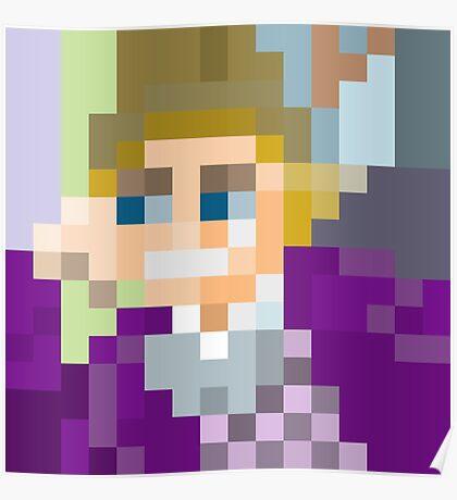Gene Wilder pixel art Poster