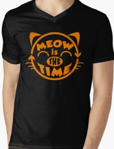 Meow is the time Mens V-Neck T-Shirt