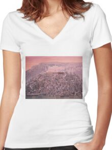 Great budapest hotel Women's Fitted V-Neck T-Shirt