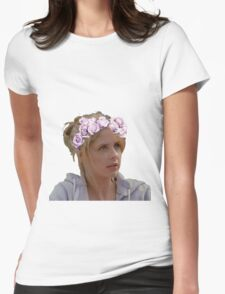 Buffy Summers - Flower Crown Womens Fitted T-Shirt