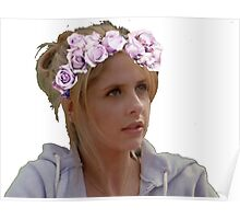 Buffy Summers - Flower Crown Poster