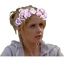 Buffy Summers - Flower Crown Photographic Print