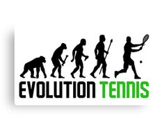 Evolution Of Man And Tennis Canvas Print