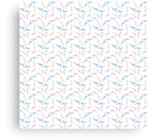 Koi and Swallow Pattern Canvas Print