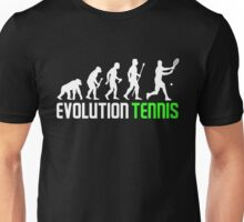 Funny Evolution Of Man And Tennis Unisex T-Shirt