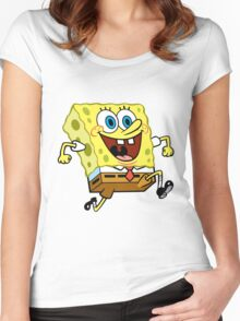 Sponge Bob Women's Fitted Scoop T-Shirt