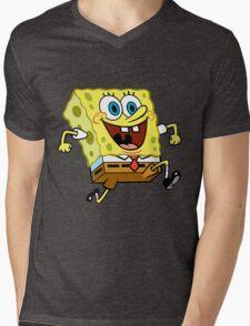 Sponge Bob Mens V-Neck T-Shirt